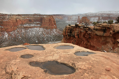 "COLORADO 7990  ""Cliff-top rain puddles""  Colorado National Monument"