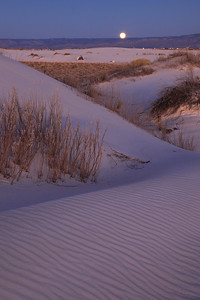"NEW MEXICO 4848  ""New Year's Eve moonrise at White Sands""  White Sands National Monument"