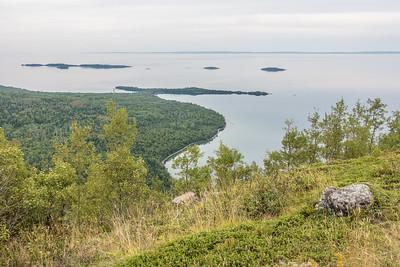 """ONTARIO 06458  """"Tee Harbour/Lehtinen's Bay overlook""""  Sleeping Giant Provincial Park"""