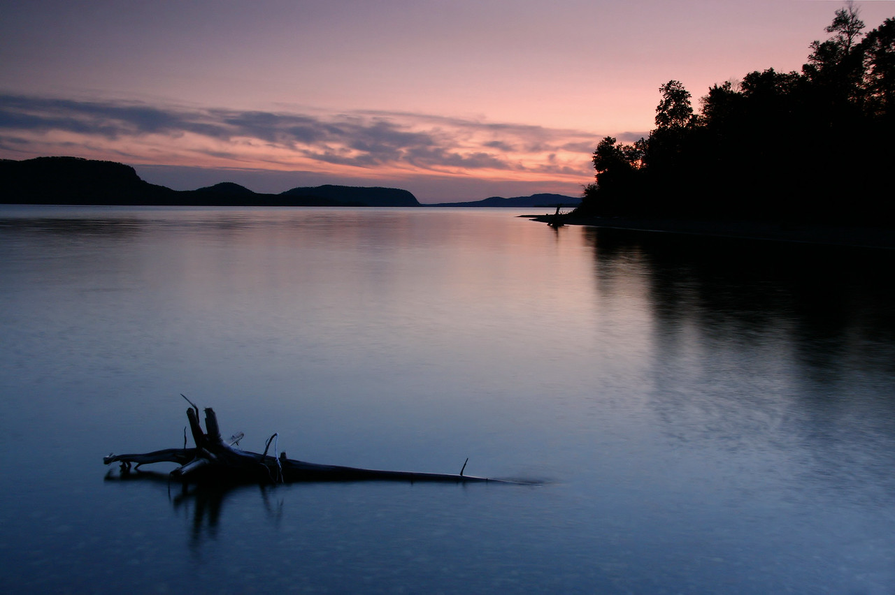 "ONTARIO 5823<br /> <br /> ""Sunset, Nipigon Bay""<br /> <br /> Nipigon Bay, Lake Superior"
