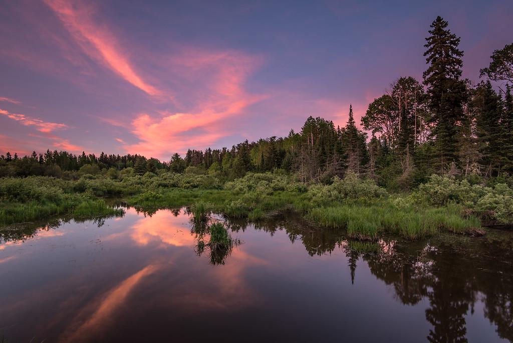 "ONTARIO 8212<br /> <br /> ""Sublime Summer Sunset""<br /> <br /> Along Highway 593 near the Ontario/Minnesota border."