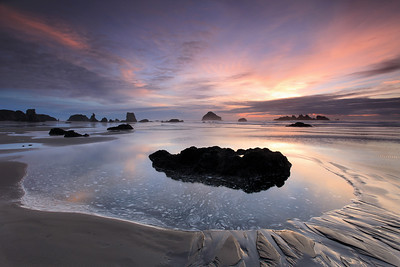 "OREGON 8134  ""Sunset Tide Pool, Bandon Beach"""