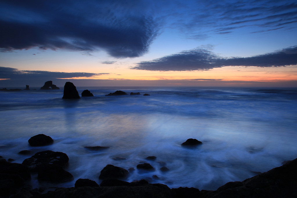 "OREGON 3056<br /> <br /> ""Pacific Twilight""<br /> <br /> Ecola State Park"