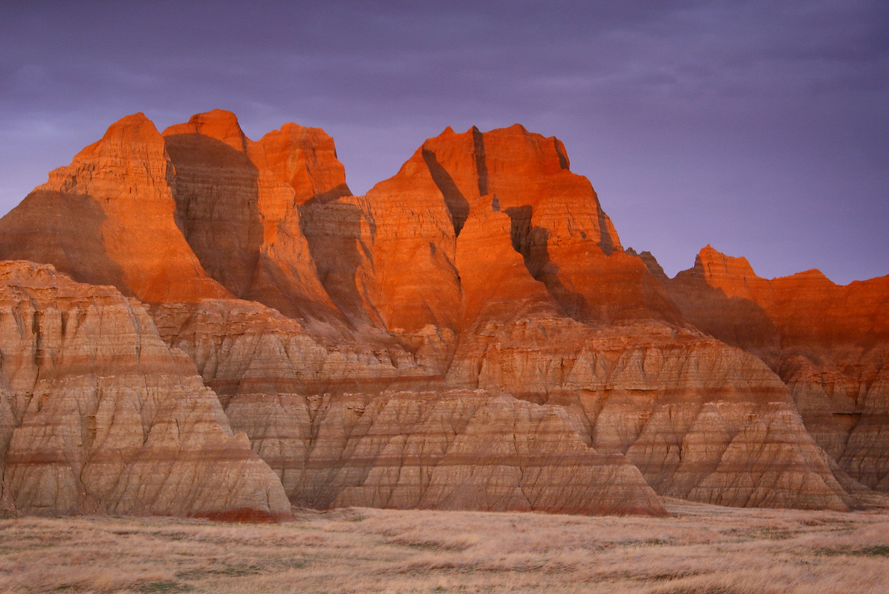 "SOUTH DAKOTA<br /> <br /> ""Spring Sunset, Badlands National Park"""