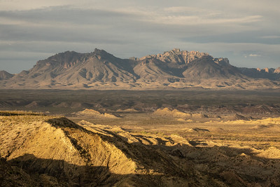 """Morning Light on the Chisos Mountains"""