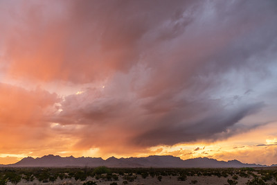 """Clearing Storm, Chisos Mountains"""