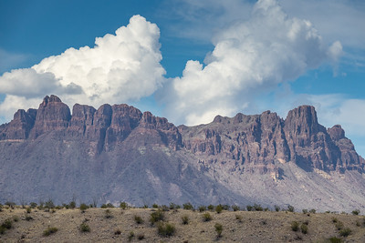 """Clouds building over the Chisos Mountains"""