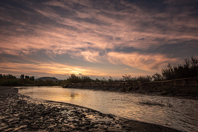 """Sunrise on the Rio Grande"""