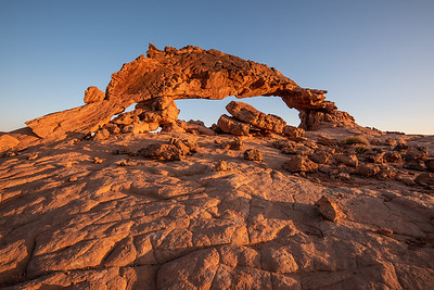 """Morning Light at Sunset Arch"""