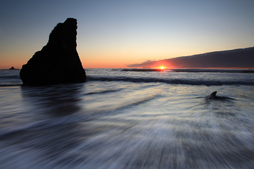 """WASHINGTON 2554<br /> <br /> """"Winter sunset at Ruby Beach""""<br /> <br /> Olympic National Park"""