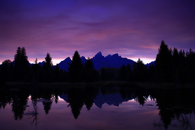 "WYOMING 7579  ""Purple Mountains Majesty""  Grand Teton National Park"