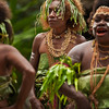 DSC_8106 Dolphin tooth jewellery decorates Melanesian women dancers at a traditional ceremonial wedding dance on Makira. Solomons Group