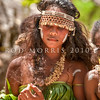 DSC_8146 Traditional dolphin tooth jewellery and headress, decorates a Melanesian woman dancer at a traditional ceremonial wedding dance on Makira. Solomons Group