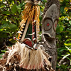DSC_8335 A traditional dancer completely hidden beneath a mask and cloak of foliage dances in this Rom Dance, in the village of Fanla on the island of Ambryn. The dance begins with the beating of drums and the pounding of feet which sets the ground shaking. Half the dancers are men, naked but for their nambas or penis sheaths, while others completely hidden beneath masks and foliage, represent various spirits. Ambryn, Vanuatu