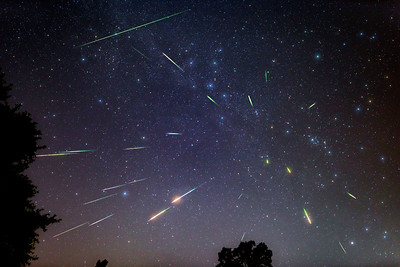Perseid Meteors and One Sporadic