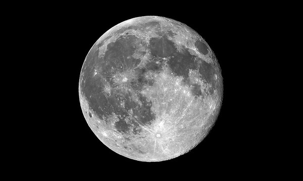 Blue Moon in Monochrome