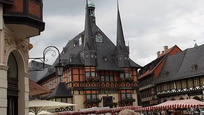 Rathaus an Stadt Zentrum--Wernigerode, Germany