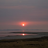Sunset in a Smokey Sky Over the Great Salt Lake