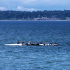 Outrigger Canoe and Kayaks on Bellingham Bay