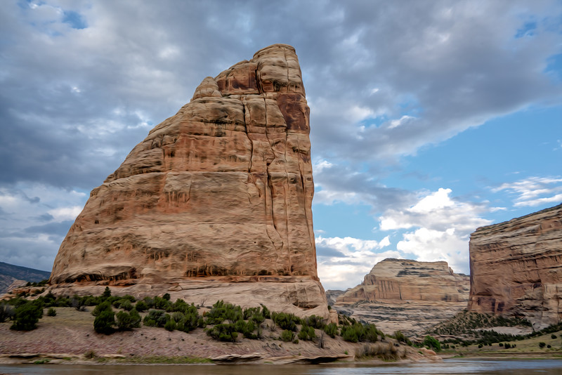 Steamboat Rock on a Cloudy Afternoon