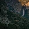 Fading Sun to Shadow on Bridal Veil Falls