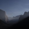 Sunrise and Smoke on El Cap and Yosemite Valley
