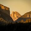 Golden Hour Light on Half Dome