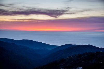 Sunset in Big Sur, November 2016.