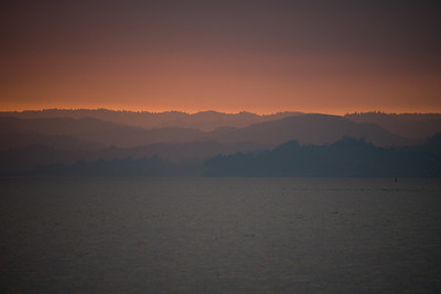 Smoky sunset at Point Pinole in October 2017.