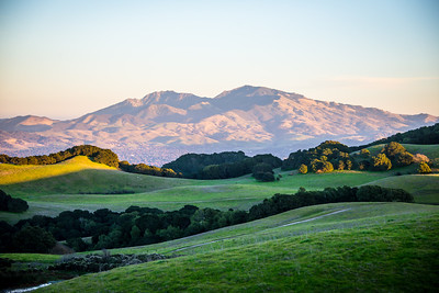 Mount Diablo seen from Briones Regional Park in December 2016.