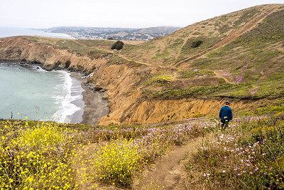 Coastal trails near Mori Point and Rockaway Beach in Pacifica, California. July 2018.