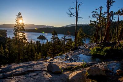 Sunrise at Emerald Bay, Lake Tahoe, CA, July 2016.
