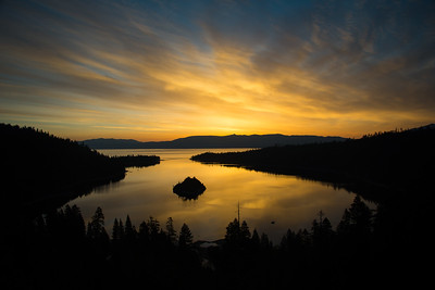Sunrise at Emerald Bay, Lake Tahoe, CA, May 2016.