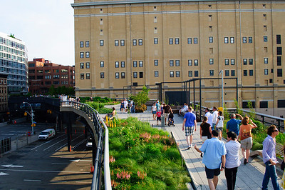 Highline Park, New York City in June 2010.