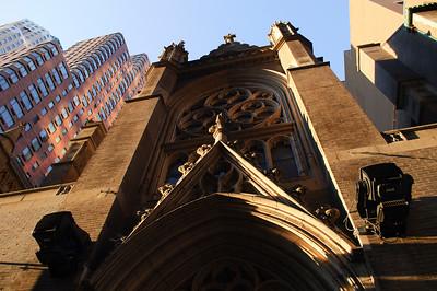 Church near Times Square in June 2010.