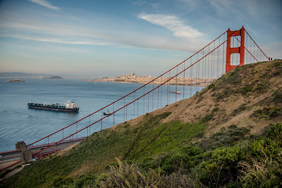 Golden Gate Bridge from Battery Spencer, Marin Headlands, California, June 2017.