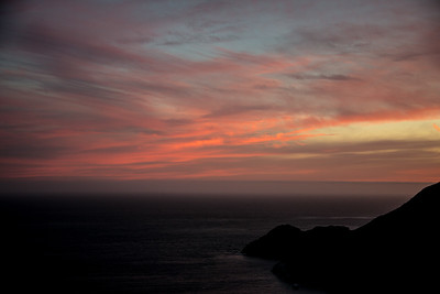 Sunset from Battery Spencer, Marin Headlands, California, June 2017.