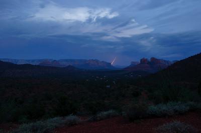 Thunderstorm seen from Upper Red Rock Loop in Sedona, Arizona in September 2012.