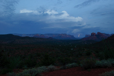Thunderstorm seen from Upper Red Rock Loop in Sedona, Arizona in September 2012.