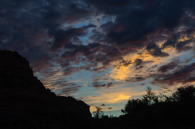 Sunrise seen from Dry Creek Road and Aerial Drive in Sedona, Arizona in September 2012.
