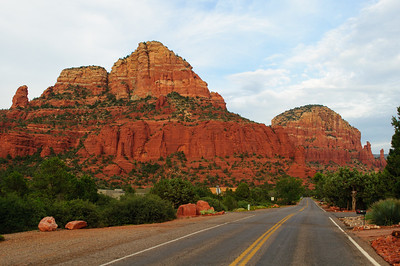 Road near the Chapel of Holy Cross in Sedona, Arizona in September 2012.