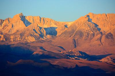 Sunrise outside of Bishop area in Eastern Sierras in October 2009.