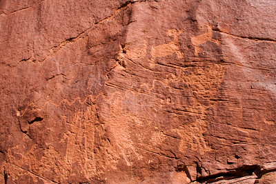 Petroglyphs,  Spider Mesa, Utah. September 2006.