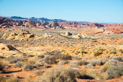 Rainbow Vista, Valley of the Fire State Park, Nevada, January 2015.