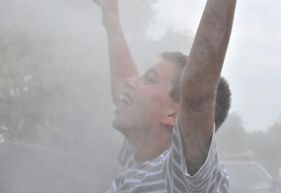 Chris Enjoys The Mist ©Debra Fisher Goldstein-2663