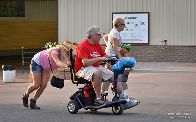 Workhorse Johanna, of Sweden, enjoys her first MN State Fair helping relatives Steve and Dianne, of Welch, MN, with their broken cart.