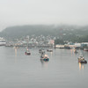 Day 2 begins with Ketchikan ahead just as the sun rises . . .