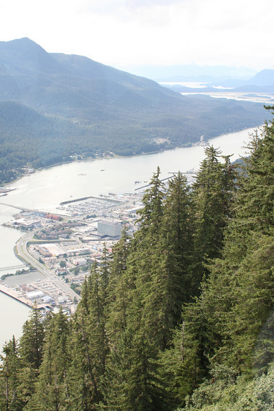 Juneau from above, looking to right (inland).