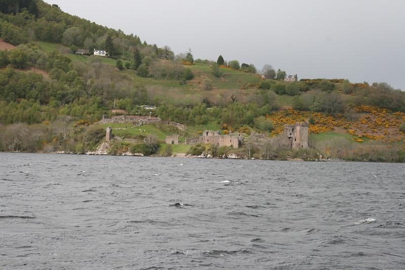 Approaching Urquarht Castle from Loch Ness.
