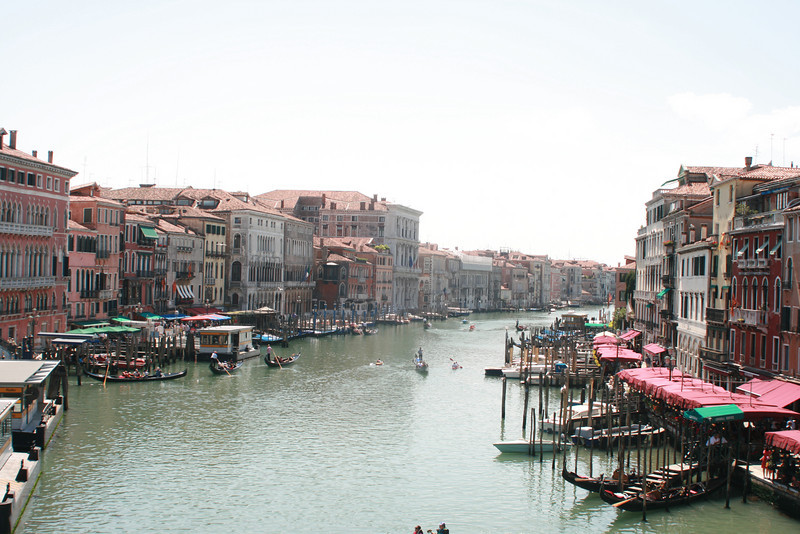 """The Grand Canal (Venice's """"Main Street"""") is a busy place."""